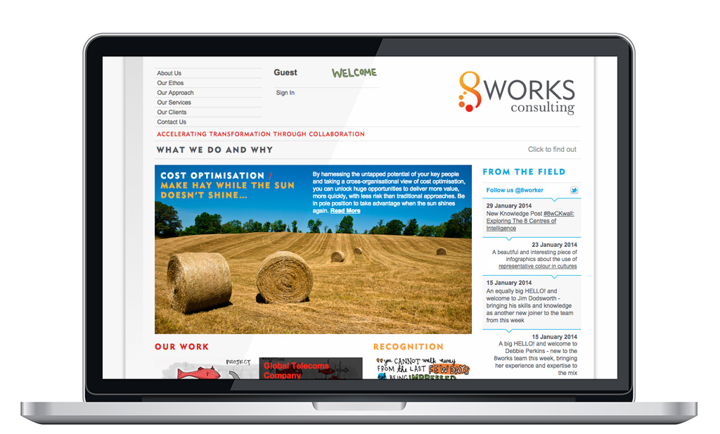 8works Consulting Website Home Page