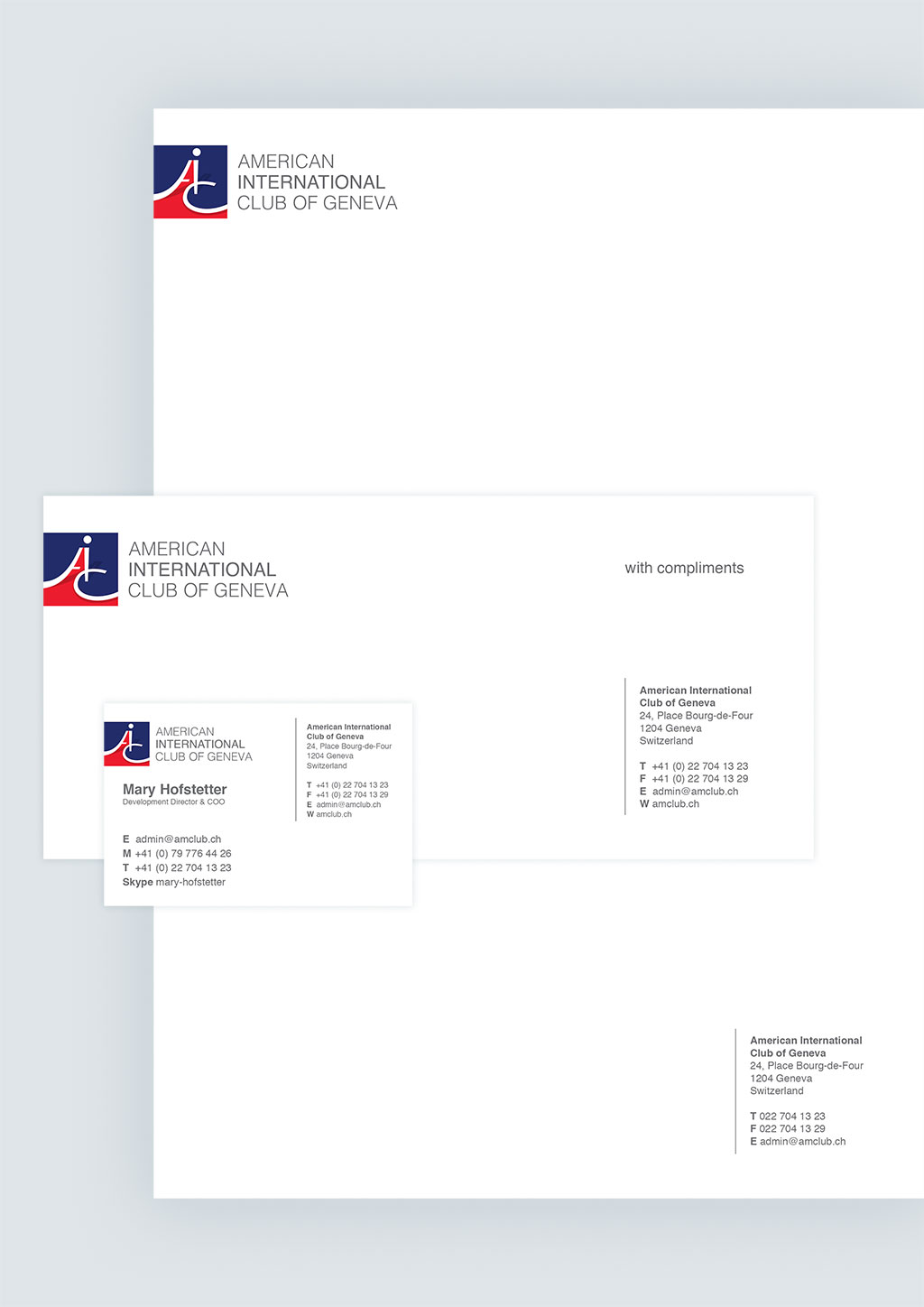 American International Club Stationery