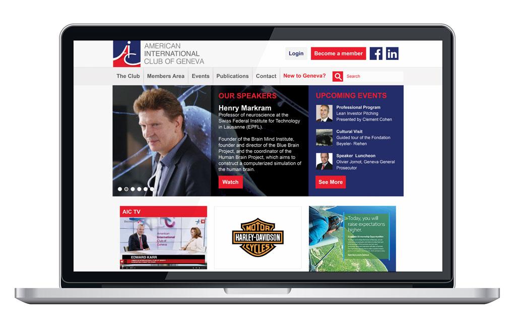 American International Club website home page