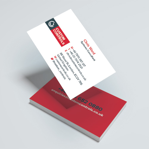 Custom Controls Business Cards