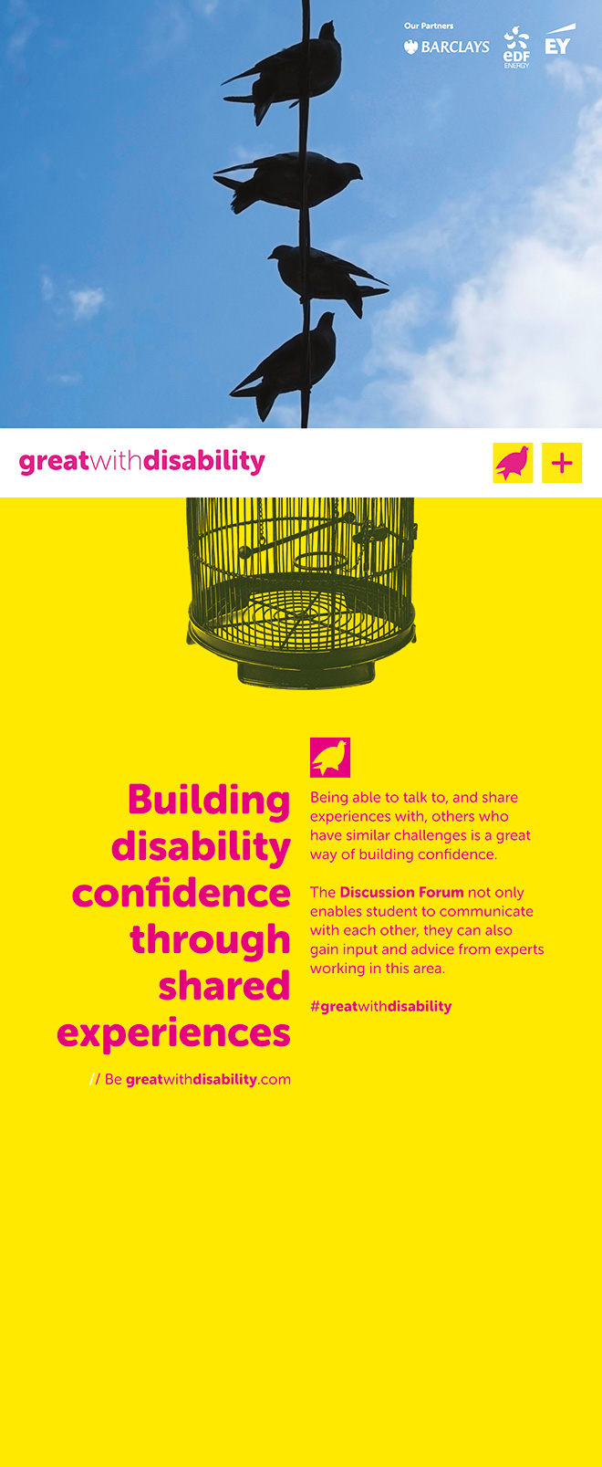 Great With Disability Case Studies Stand